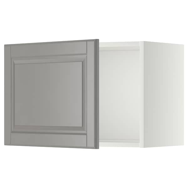 METOD Wall cabinet, white/Bodbyn grey, 60x40 cm
