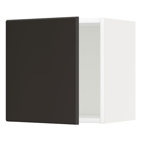 METOD Wall cabinet, white/Kungsbacka anthracite, 40x40 cm