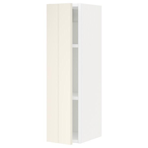 METOD خزانة حائط مع أرفف, أبيض/Hittarp أبيض-مطفي, 20x80 سم