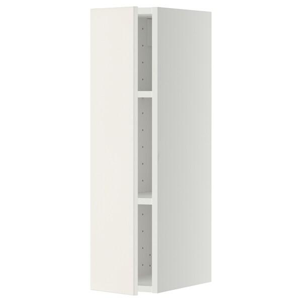 METOD خزانة حائط مع أرفف, أبيض/Veddinge أبيض, 20x80 سم