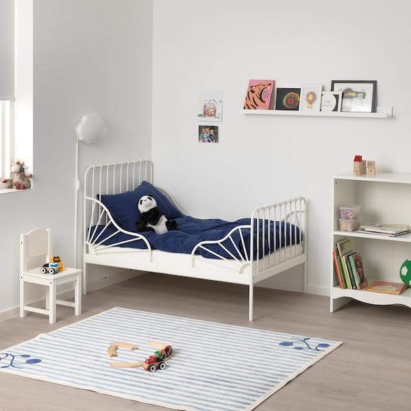 MINNEN ext bed frame with slatted bed base white 135 cm 206 cm 85 cm 72 cm 92 cm 23 cm 100 kg 200 cm 80 cm