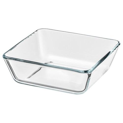 MIXTUR oven/serving dish clear glass 15 cm 15 cm 5 cm