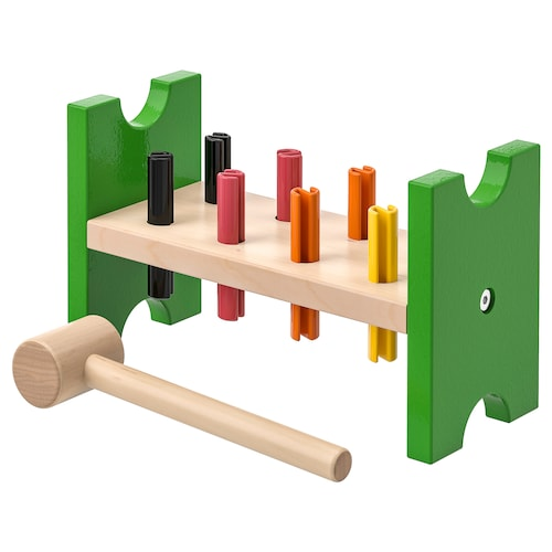 MULA toy hammering block multicolour 24 cm 10 cm 14 cm