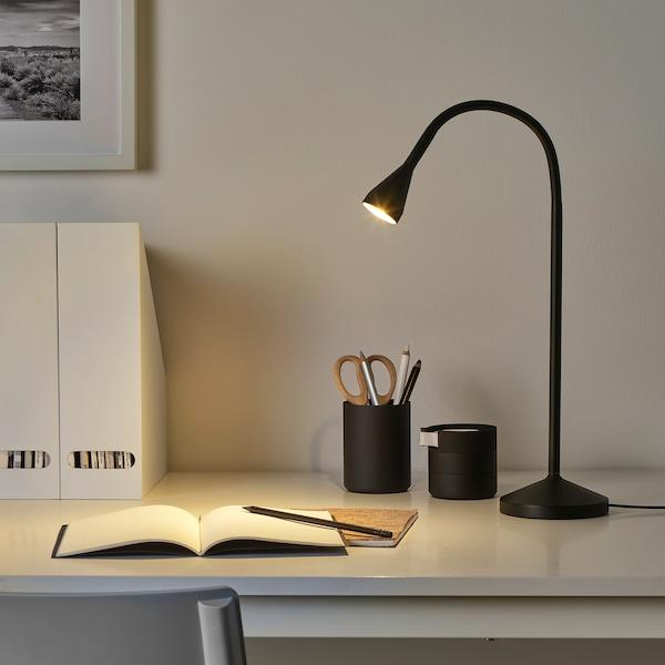 NÄVLINGE مصباح عمل LED, أسود