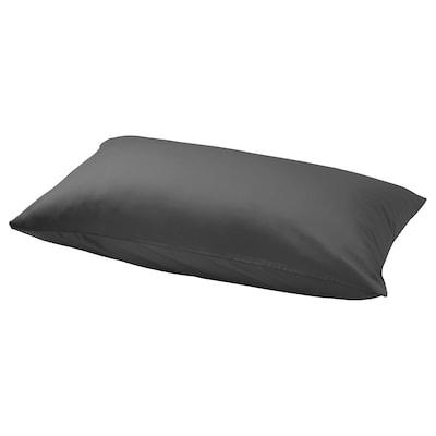NATTJASMIN Pillowcase, dark grey, 40x75 cm