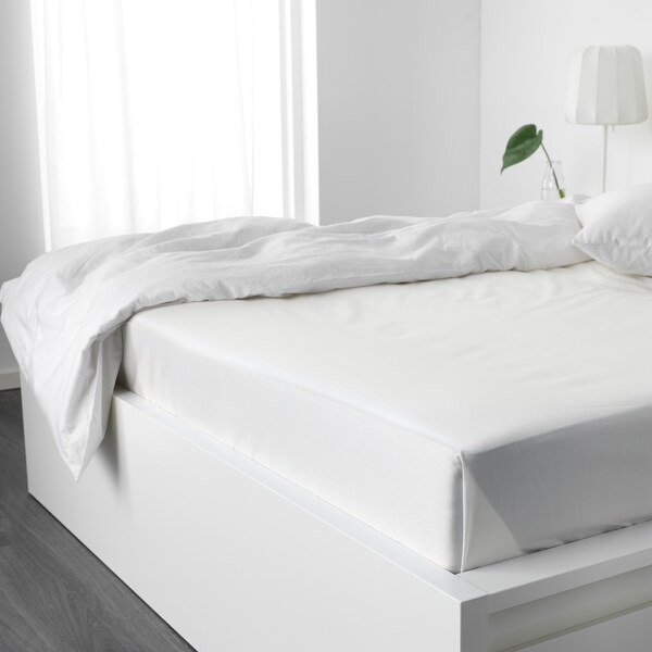 NATTJASMIN Sheet, white, 240x260 cm