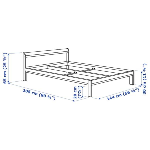 NEIDEN bed frame pine/Luröy 205 cm 144 cm 30 cm 65 cm 20 cm 200 cm 140 cm