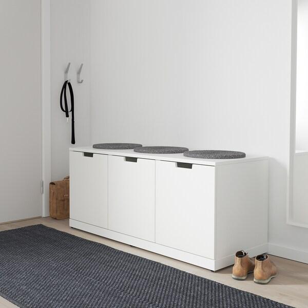 NORDLI Chest of 3 drawers, white, 120x54 cm