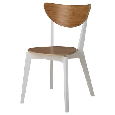NORDMYRA Chair, bamboo/white