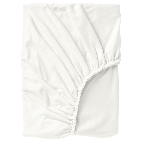 NORDRUTA fitted sheet white 86 /inch² 200 cm 180 cm