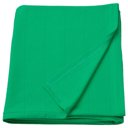ODDHILD throw bright green 170 cm 120 cm