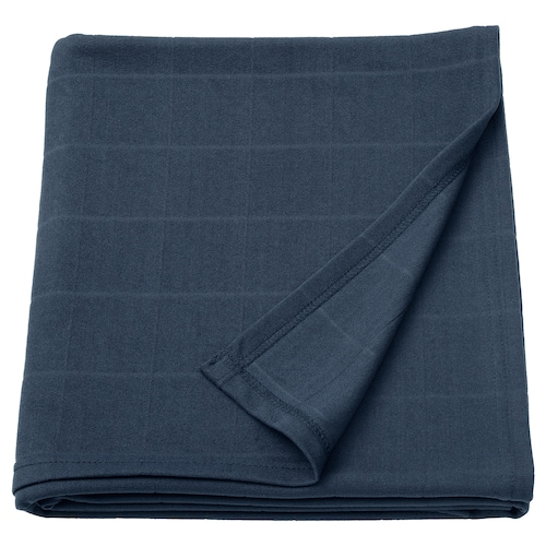 ODDHILD throw dark blue 170 cm 120 cm