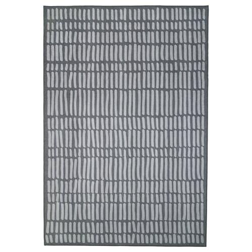 OMTÄNKSAM rug, flatwoven grey 195 cm 133 cm 2.59 m²