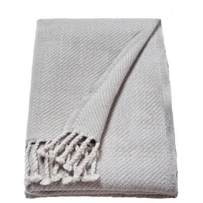 OMTÄNKSAM غطاء, رمادي فاتح, 60x160 سم