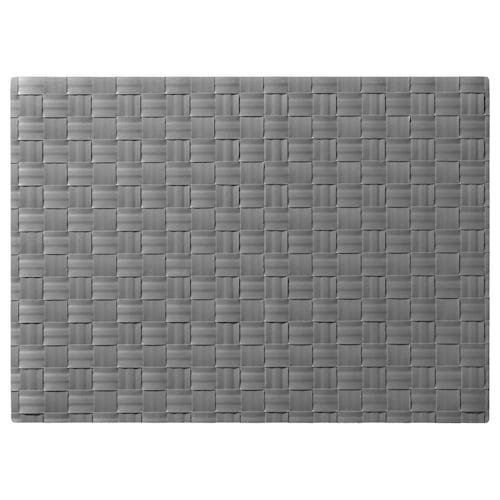 ORDENTLIG place mat grey 46 cm 33 cm