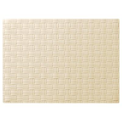 ORDENTLIG مفرش أطباق, أبيض-مطفي, 46x33 سم