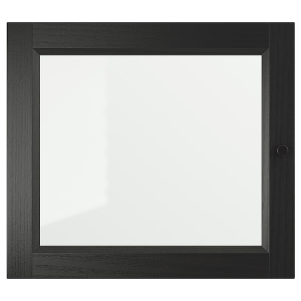 OXBERG باب زجاج, أسود-بني, 40x35 سم