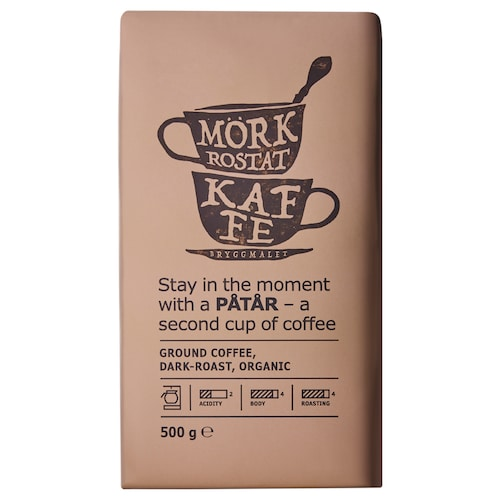 PÅTÅR filter coffee, dark roast organic/UTZ certified/100 % Arabica beans 500 g