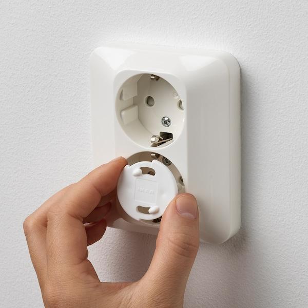 PATRULL safety plug white 2.0 cm 2.8 cm 12 pieces