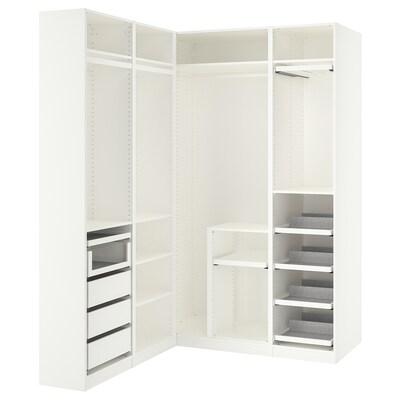 PAX خزانة ملابس زاوية, أبيض, 160/163x236 سم