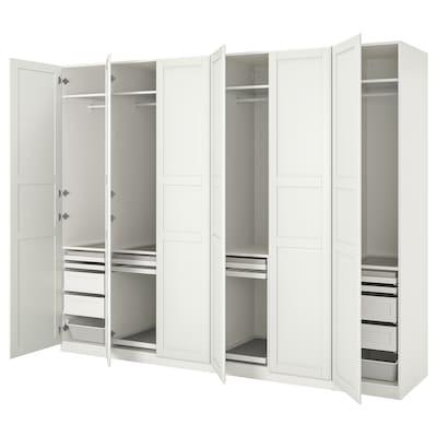 PAX / TYSSEDAL Wardrobe combination, white/white, 300x60x236 cm