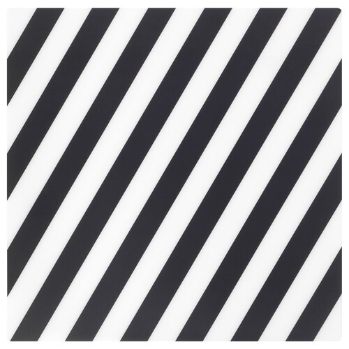 PIPIG place mat striped/black/white 37 cm 37 cm