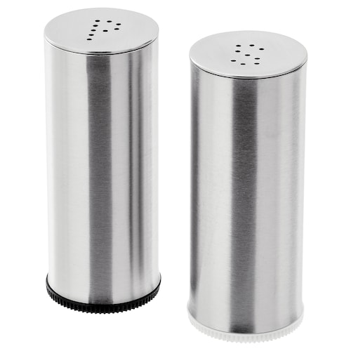 PLATS salt/pepper shaker, set of 2 stainless steel 7 cm 3 cm