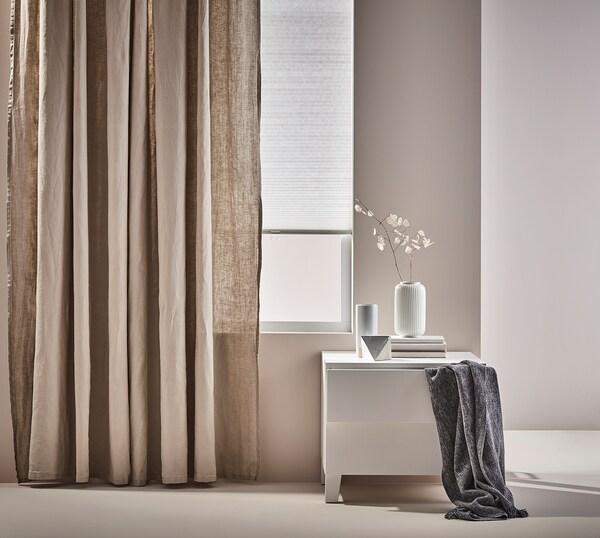 PLATSA Chest of 2 drawers, white/Fonnes white, 60x57x53 cm
