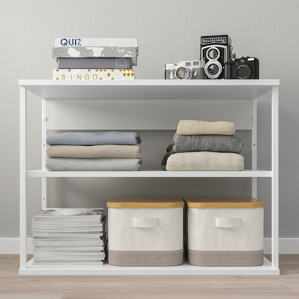 PLATSA Open shelving unit, white, 80x40x60 cm