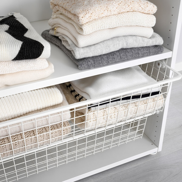 PLATSA Wardrobe, white/Fonnes white, 195-220x57x241 cm