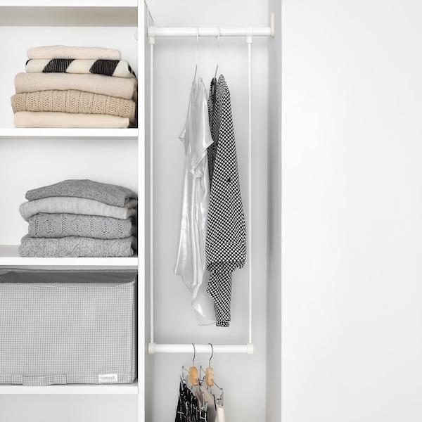 PLATSA خزانة ملابس, أبيض/Fonnes أبيض, 95-120x42x181 سم