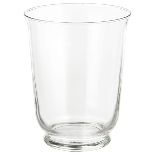 POMP vase/lantern clear glass 18 cm 14 cm