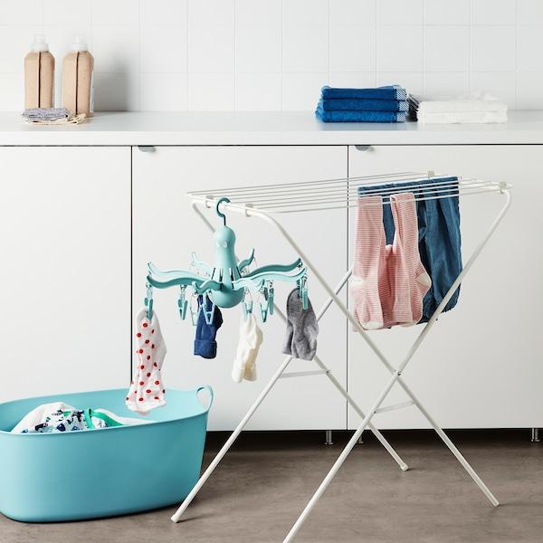 PRESSA hanging dryer 16 clothes pegs turquoise 26 cm 40 cm