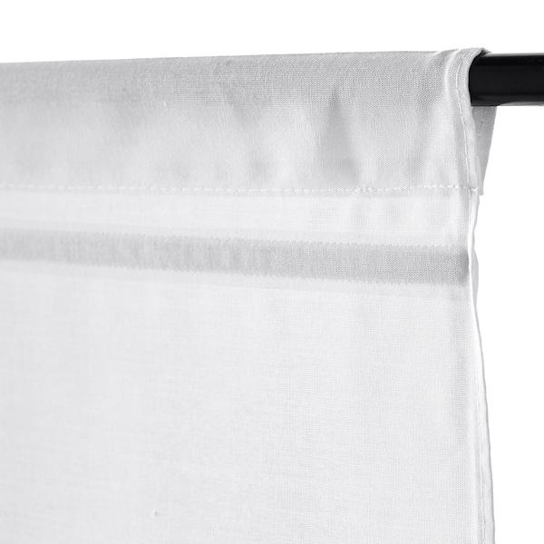 RINGBLOMMA Roman blind, white, 80x160 cm
