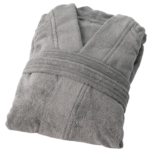 ROCKÅN bath robe grey 112 cm 380 g/m²