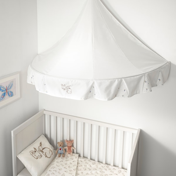 RÖDHAKE bed canopy rabbit pattern 77 cm 94 cm 155 cm