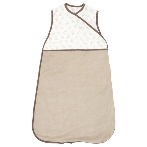 RÖDHAKE sleeping bag beige/rabbit pattern 74 cm