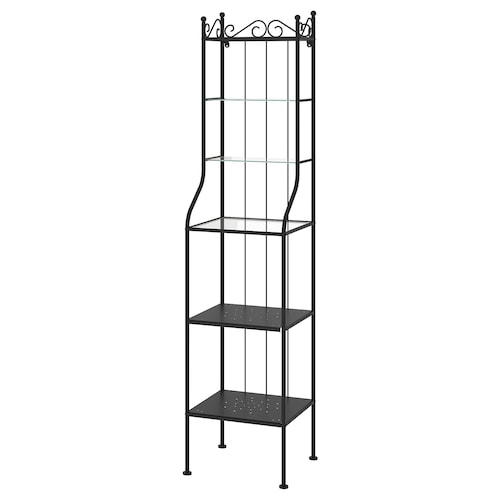 RÖNNSKÄR shelving unit black 42 cm 40 cm 176 cm