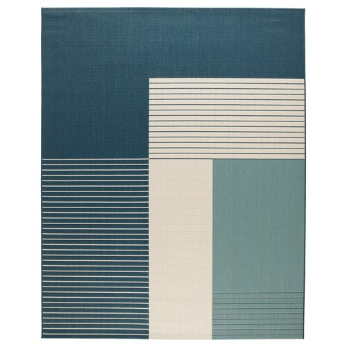 ROSKILDE rug, flatwoven in/outdoor green-blue 250 cm 200 cm 5 mm 5.00 m² 1600 g/m²