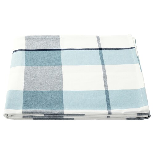 RUTIG tablecloth check pattern blue 240 cm 145 cm