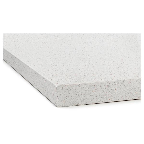 SÄLJAN Worktop, white stone effect/laminate, 246x3.8 cm