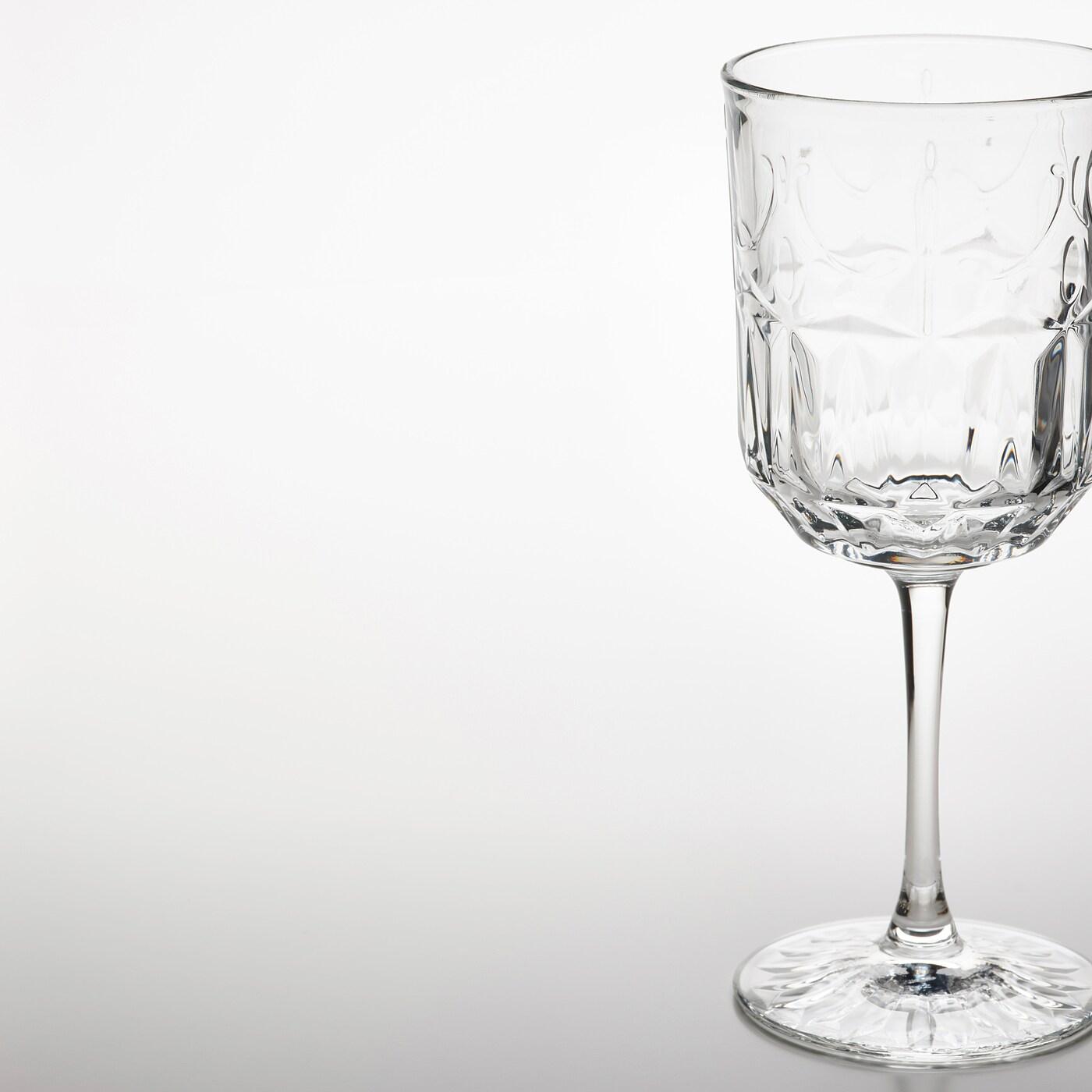 SÄLLSKAPLIG كأس, زجاج شفاف/منقّش, 27 سل
