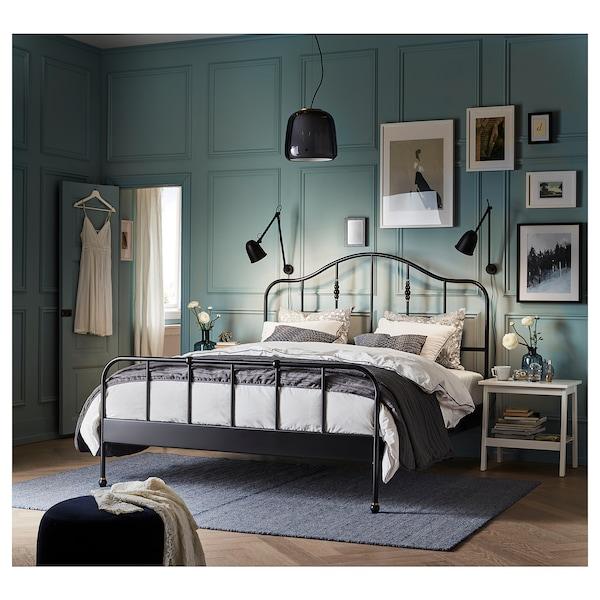SAGSTUA هيكل سرير, أسود/Lonset, 140x200 سم
