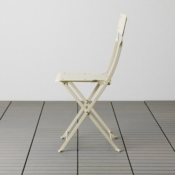 SALTHOLMEN Chair, outdoor, foldable beige