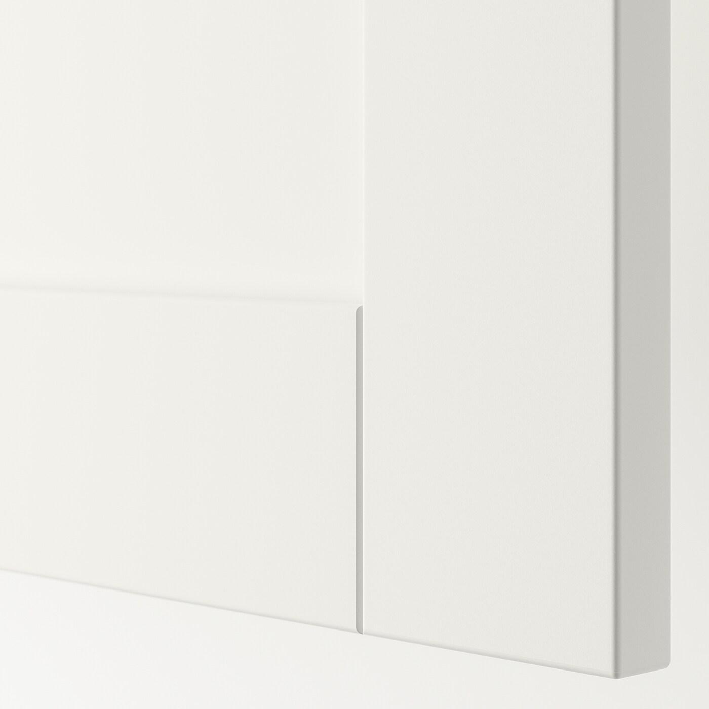 SANNIDAL Door with hinges, white, 60x40 cm