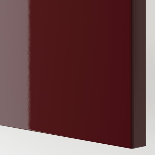 SELSVIKEN door high-gloss dark red-brown 60 cm 64 cm 2.0 cm