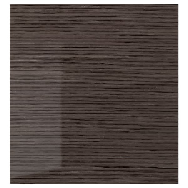 SELSVIKEN door patterned high gloss brown 60 cm 64 cm