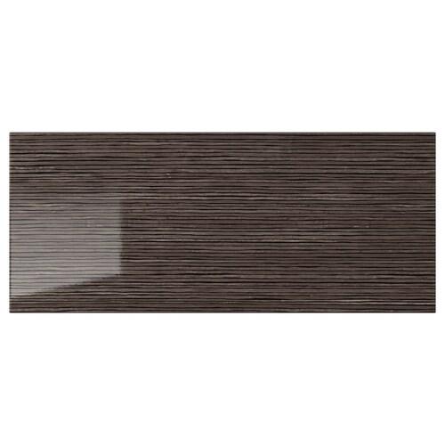 SELSVIKEN drawer front patterned high gloss brown 60 cm 26 cm