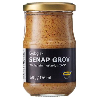 SENAP GROV صلصة الخردل مع الذرة الحب, عضوي.