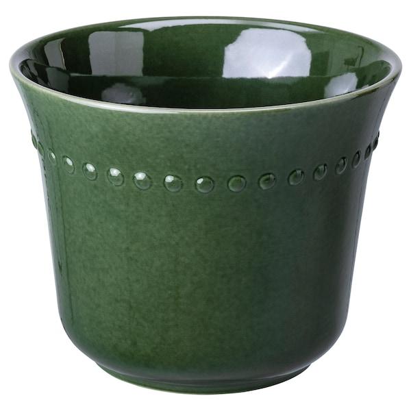 SHARONFRUKT Plant pot, in/outdoor green, 24 cm